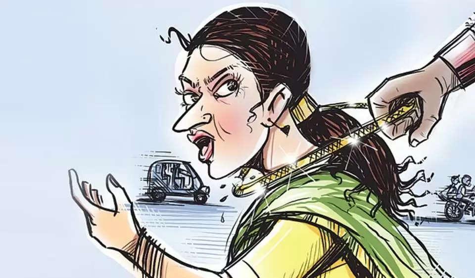 चैन स्नेचिंग करने वाली महिला गिरोह को पुलिस ने पकड़ा