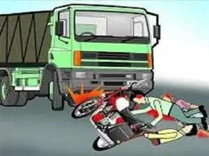 अज्ञात वाहन ने बाइक को मारी टक्कर, 2 की मौत, दो गंभीर घायल