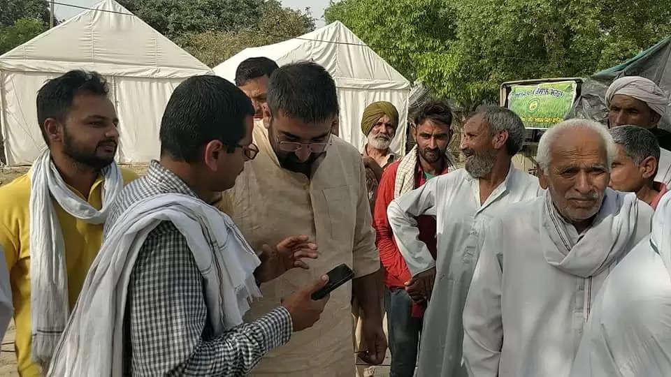 टिकरी बॉर्डर पर इनेलो ने खोला अस्थाई अस्पताल, किसानों को मिलेगी स्वास्थ्य सुविधा
