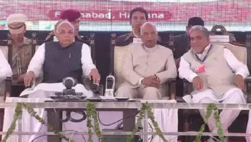 फतेहाबाद पहुंचे राष्ट्रपति रामनाथ कोविंद ने की प्रदेश की जमकर तारीफ, कहा आज यहां मिनी इंडिया बस गया है